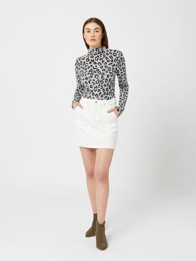 Falda recta 100% algodón blanco.
