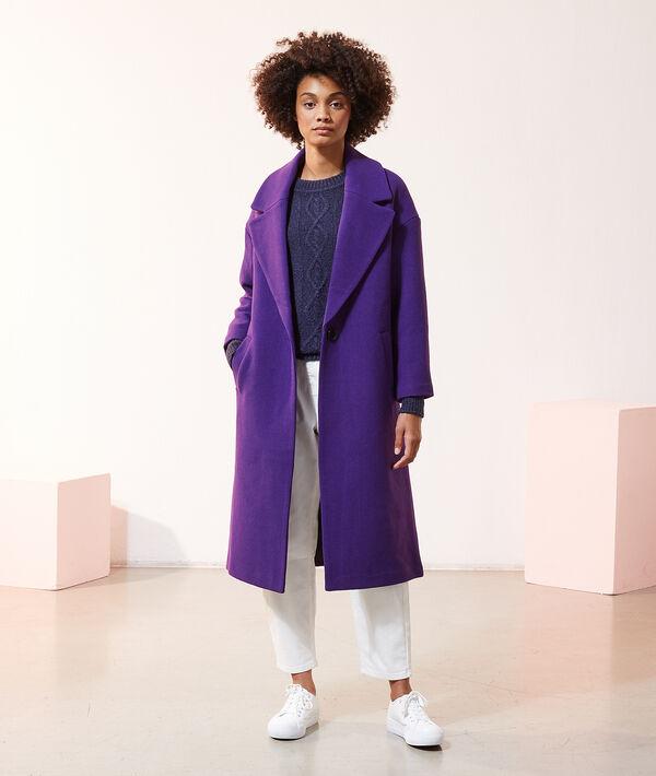 Manteau droit long