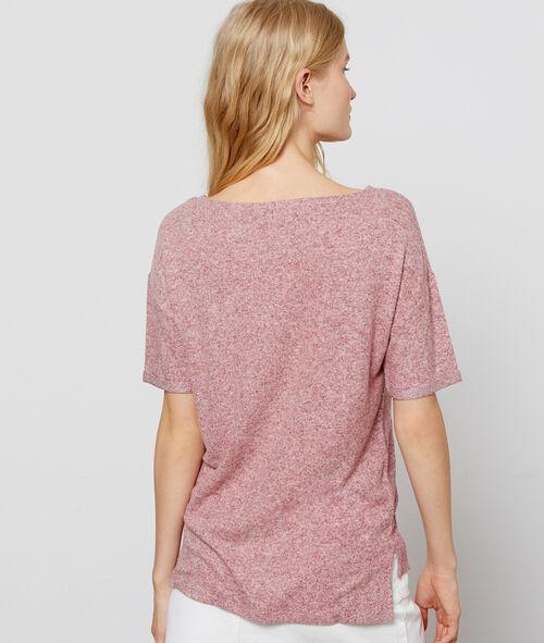 Camiseta jaspeada de cuello redondo