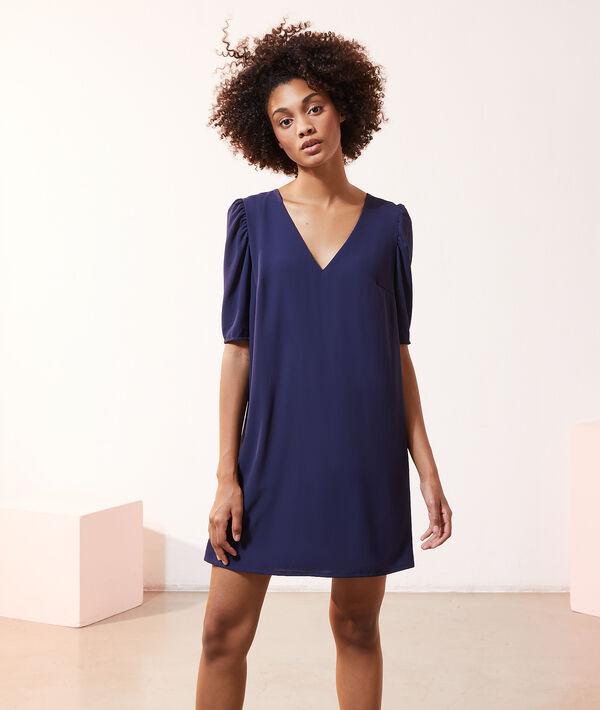 Vestido recto 2 en 1 con top integrado