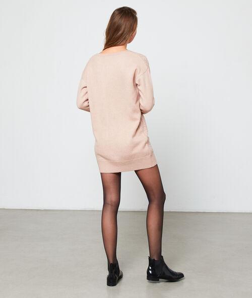 Vestido suéter de punto trenzado