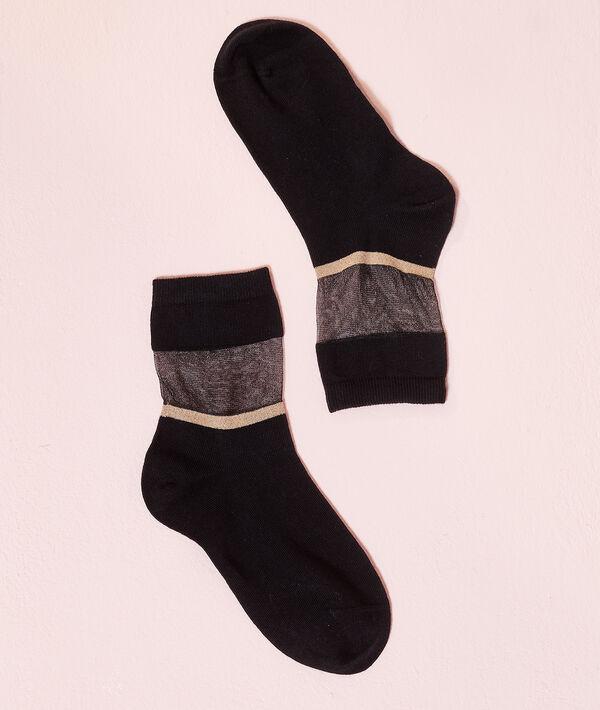 Calcetines dos texturas