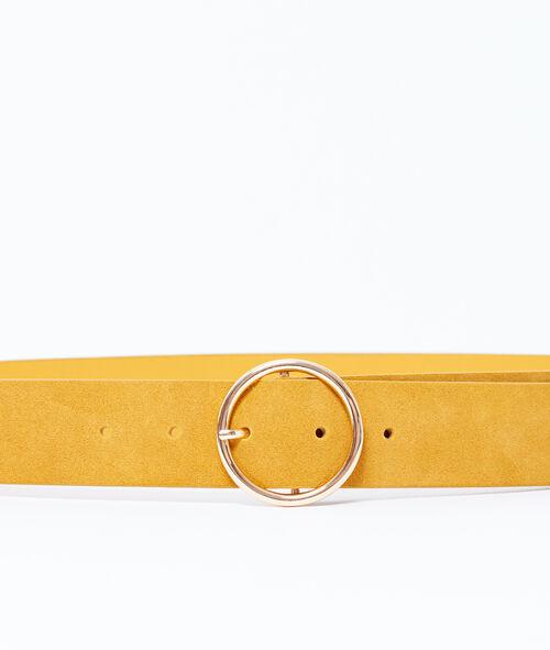 Cinturón de ante con hebilla