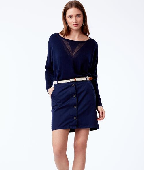 Falda con cinturón 100% algodón bio