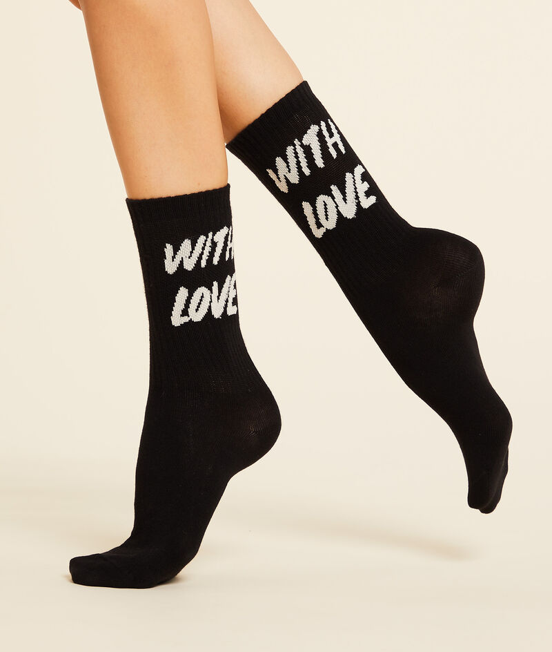 Calcetines cortos 'with love'