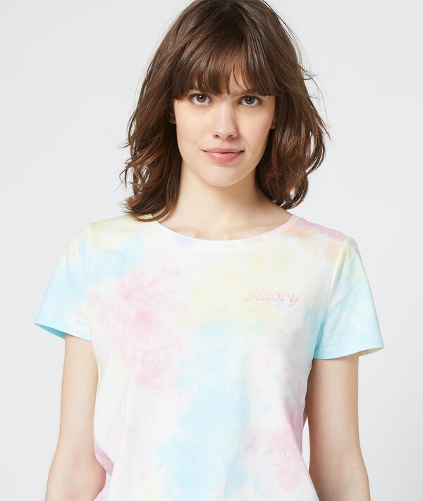 Camiseta estampada tie-dye