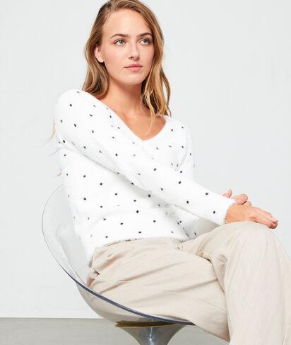 Suéter de lunares de punto esponjoso
