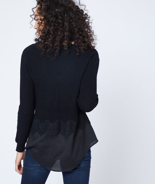 Suéter con encaje