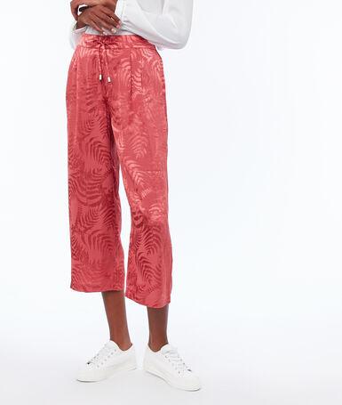 Pantalón jacquard frambuesa.