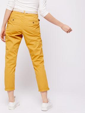 Pantalón con cinturón de algodón bio c.curry.