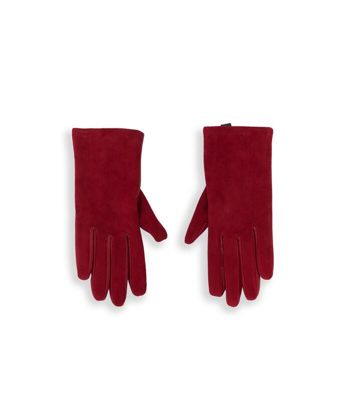 Guantes de piel dos texturas rojo.