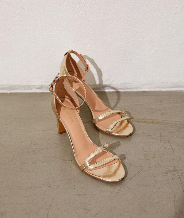 Sandalias doradas de talón