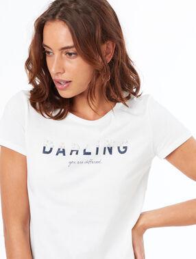 Camiseta manga corta algodón blanco.