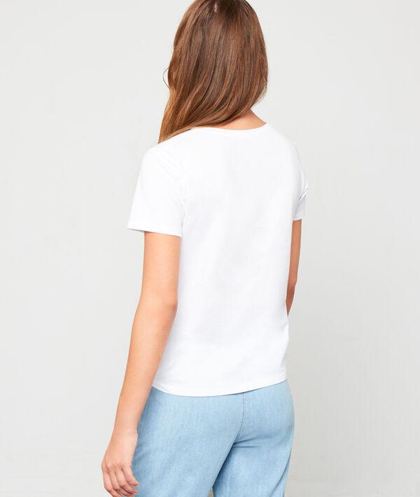 Camiseta serigrafiada de algodón bio