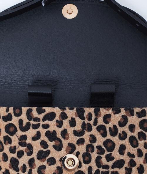 Bolso bandolera estampado de leopardo