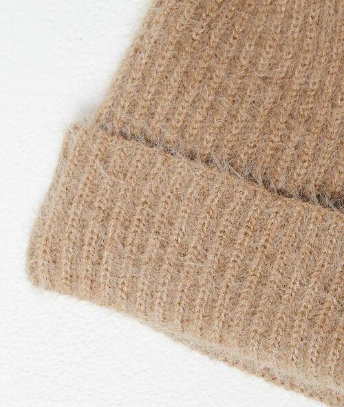 Suéter de punto grueso mangas de globo