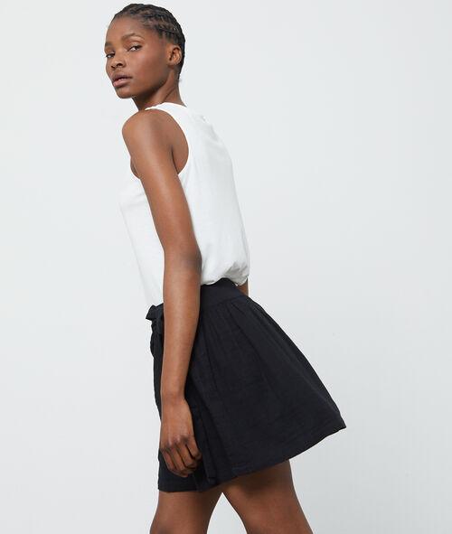 Falda cruzada anudada en algodón