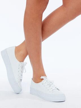 Zapatillas plataforma crudo.