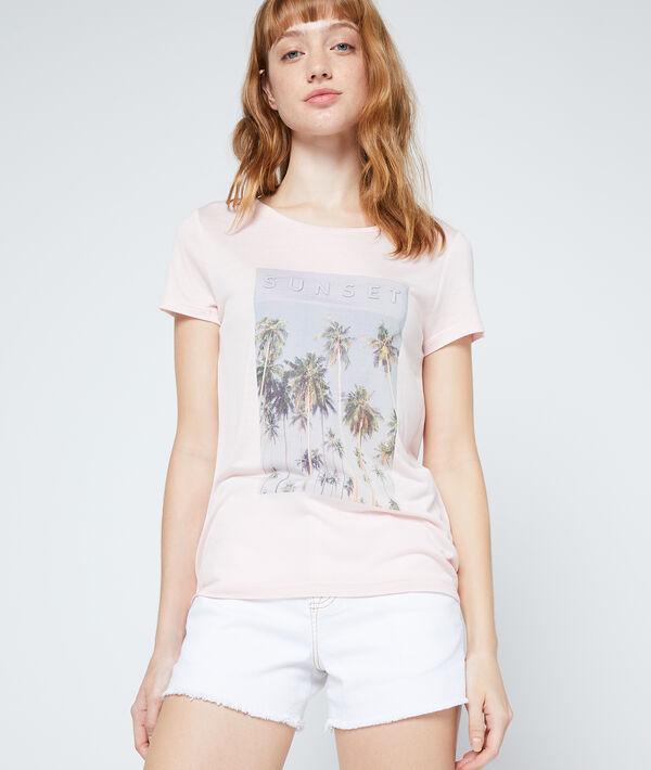 Camiseta estampada con palmeras