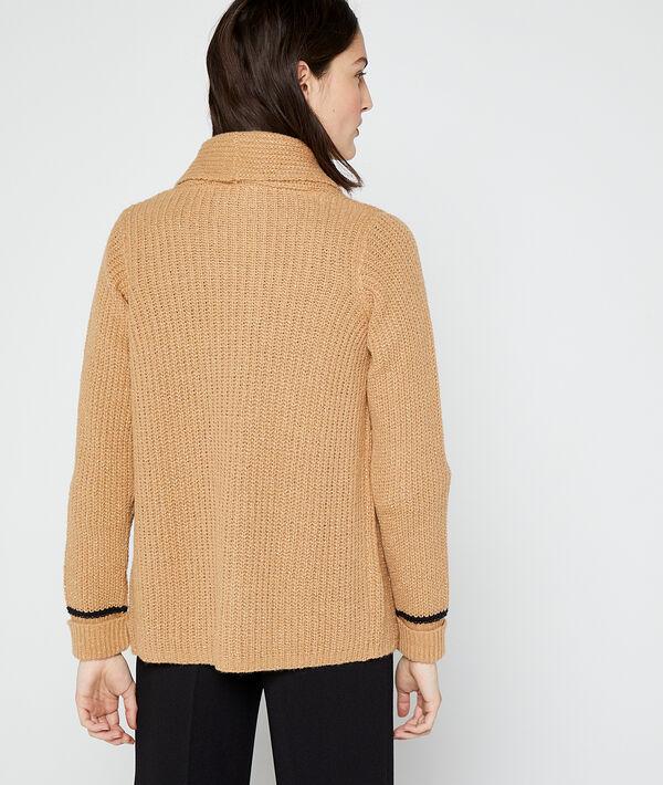 Suéter metalizado de punto grueso