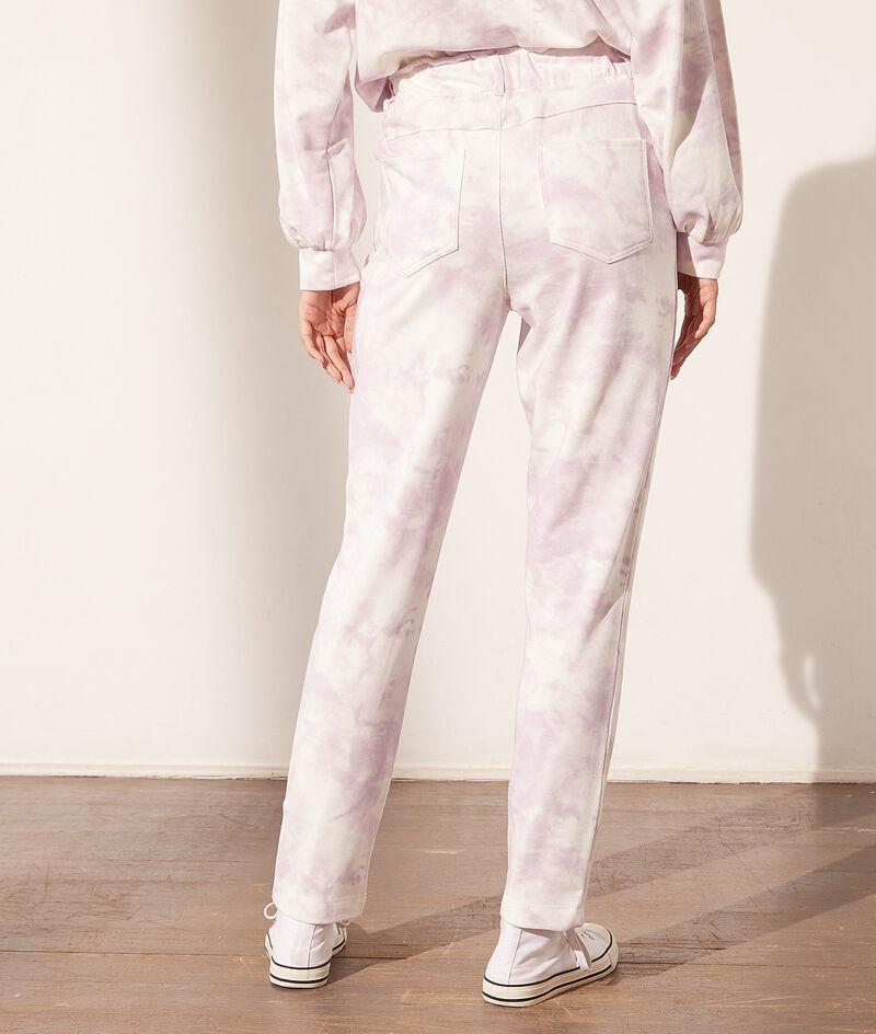 Pantalón estampado tie-dye