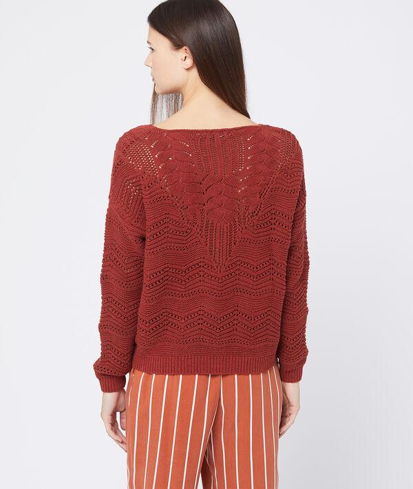Suéter de punto grueso cruzado