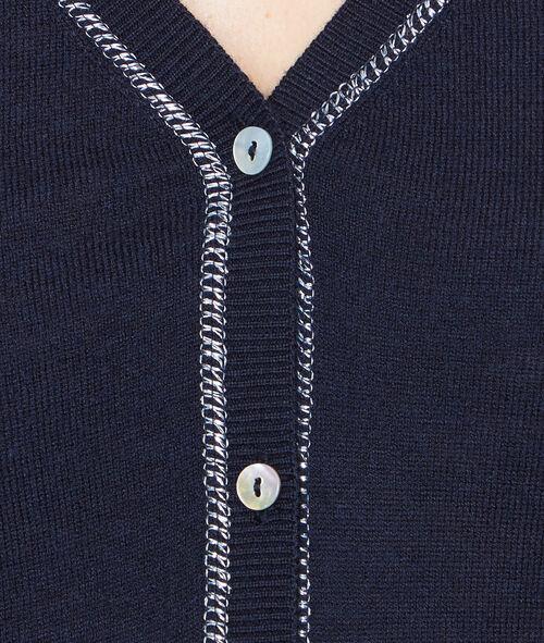 Chaqueta con botones fibras metalizadas