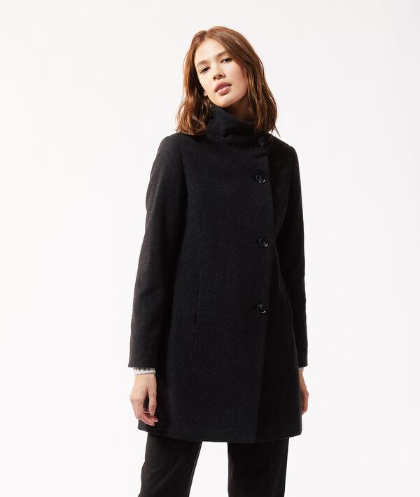 Manteau croisé col cheminée
