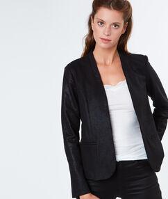 Veste à motifs surbrillants noir.
