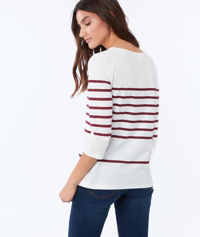 Camiseta manga larga algodón rojo.
