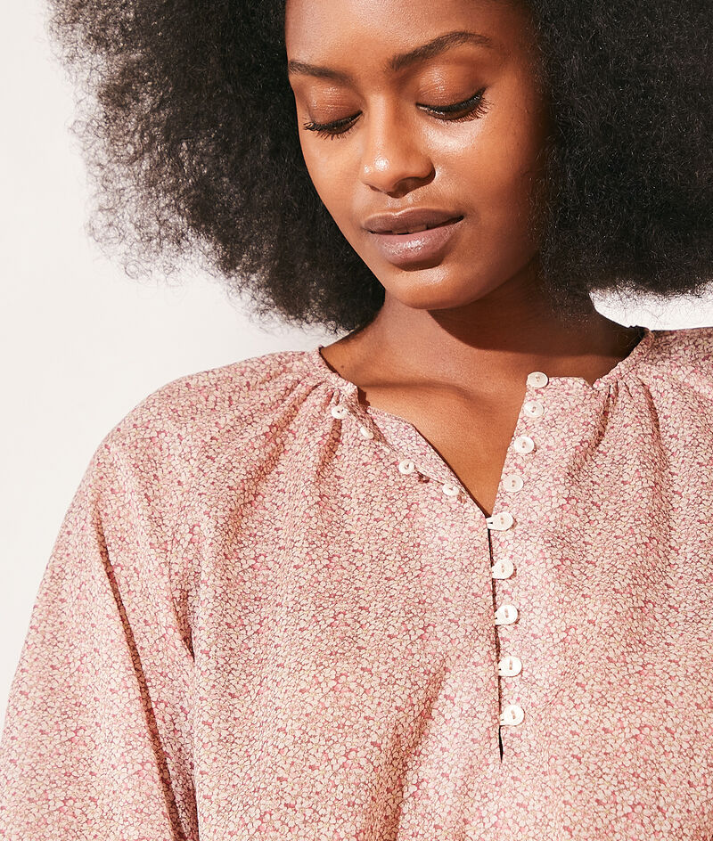 Blusa estampada de algodón