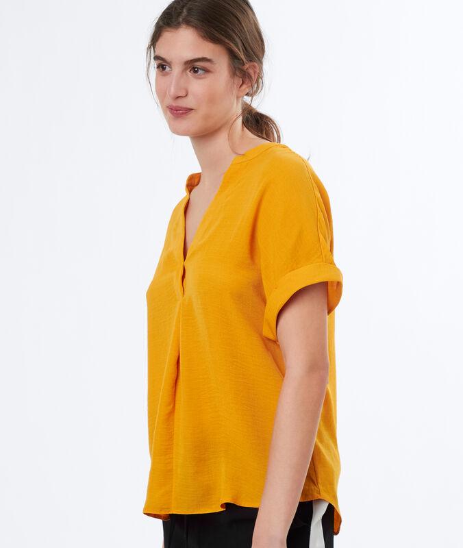 Blusa escote tunecino c.ocre.