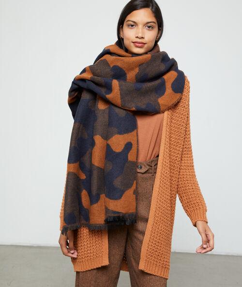 Bufanda plaid estampado camuflaje