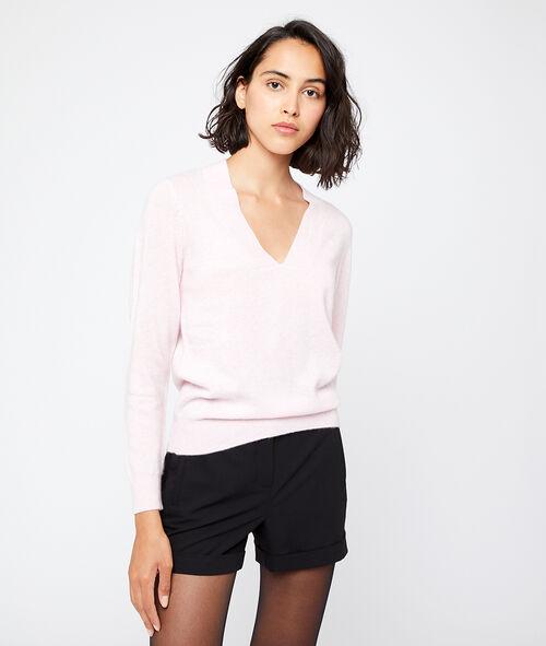 Suéter cuello en V de cachemir