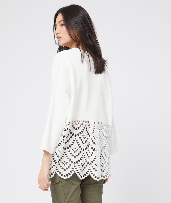 Suéter de algodón con bordados