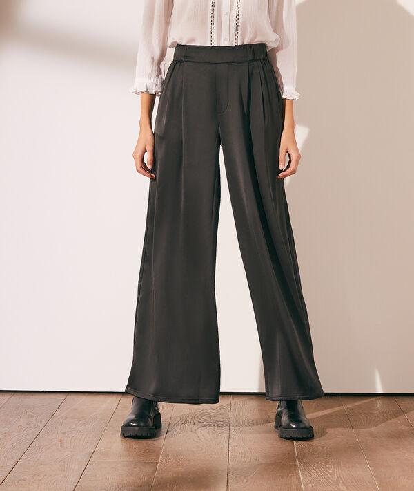 Pantalón ancho satinado