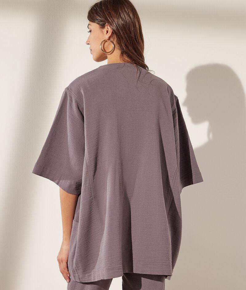 Chaqueta tipo kimono de algodón