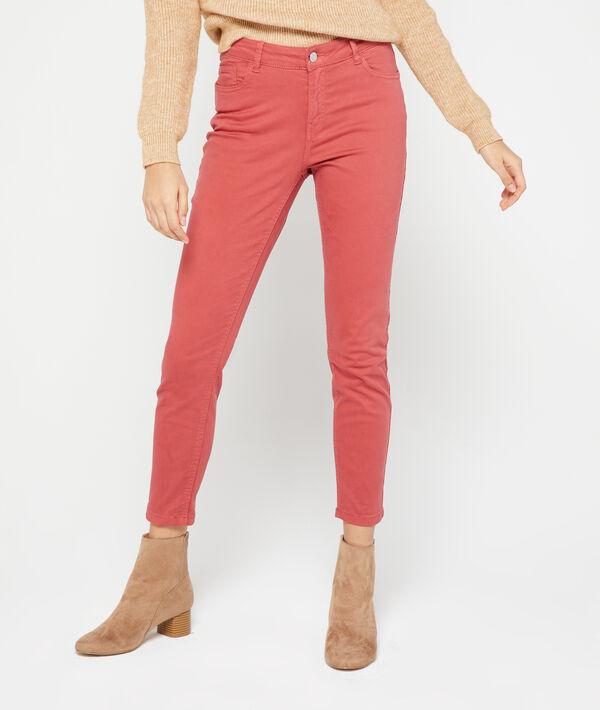 Pantalón ajustado de algodón