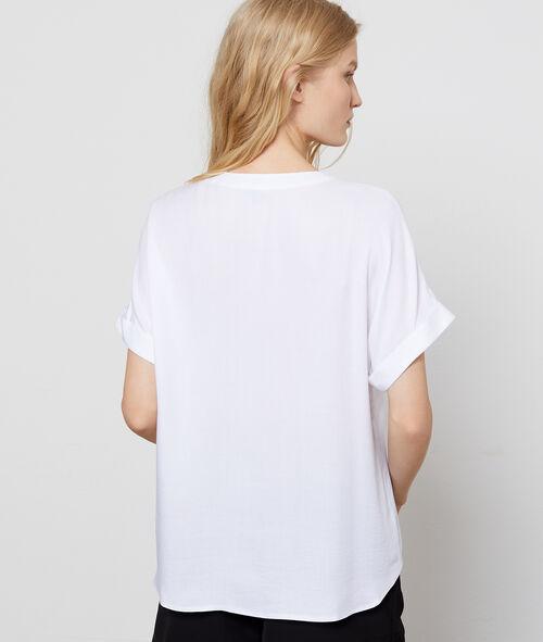 Blusa cuello tunecino