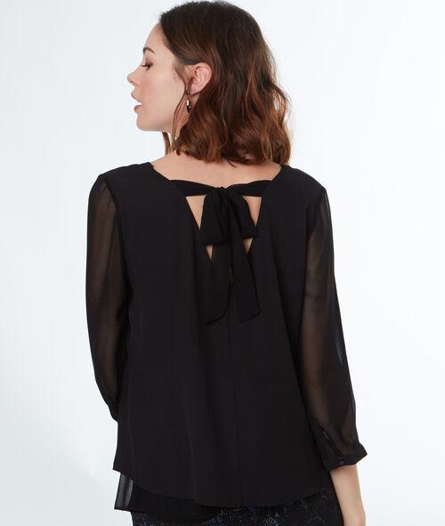 Blusa escote con lazada en la espalda