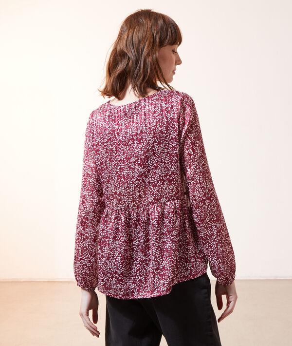 Blusa estampada 2 en 1 con top integrado