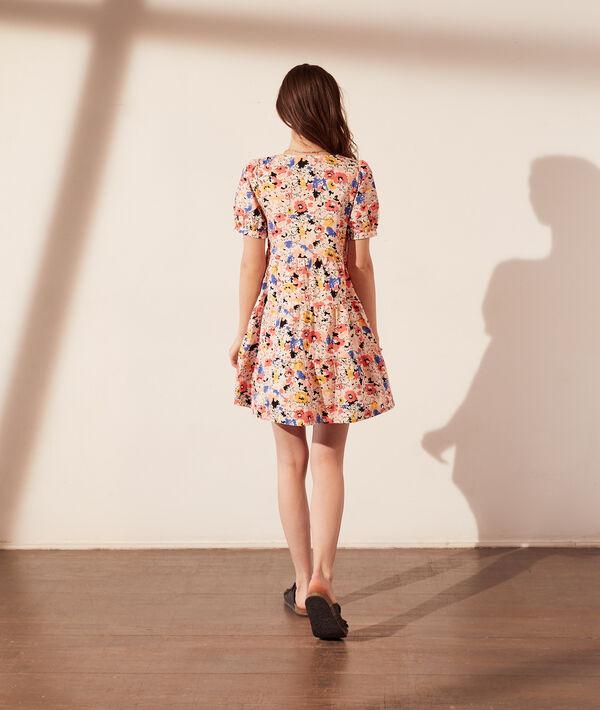 Vestido de corte evasé, estampado floral