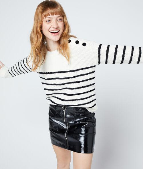 Suéter de rayas de punto