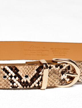 Cinturón estampado de serpiente c.beige.