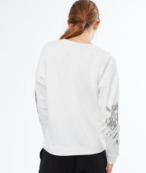 Sudadera bordados algodón