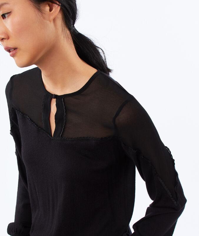 Jersey dos texturas negro.