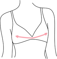 Mesure du dessus de la poitrine